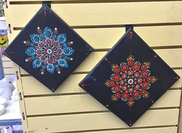 Mandala Dot Art with Aran   Pottery, Canvas Painting, & Glass Fusing    Aran's Art Studio   Castro Valley, Bay Area, CA