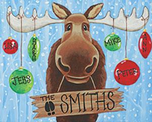 Canvas Wine Christmas Moose Pottery Painting Glass Fusing Aran S Art Studio Castro Valley Bay Area Ca