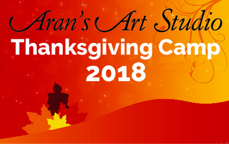 Thanksgiving 2018 Camp   Pottery, Canvas Painting, & Glass Fusing   Aran's  Art Studio   Castro Valley, Bay Area, CA